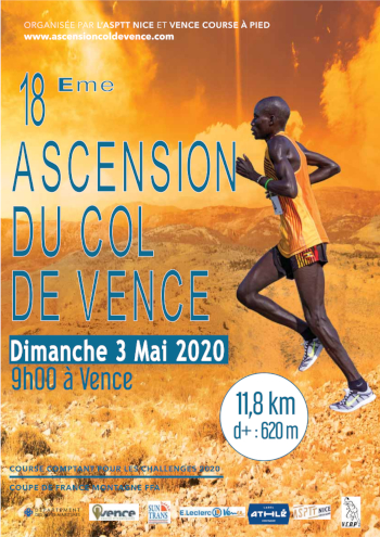 Affiche ascension du Col de Vence